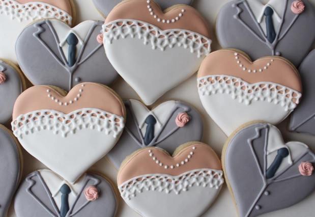 sweet lil cookie wedding cookies