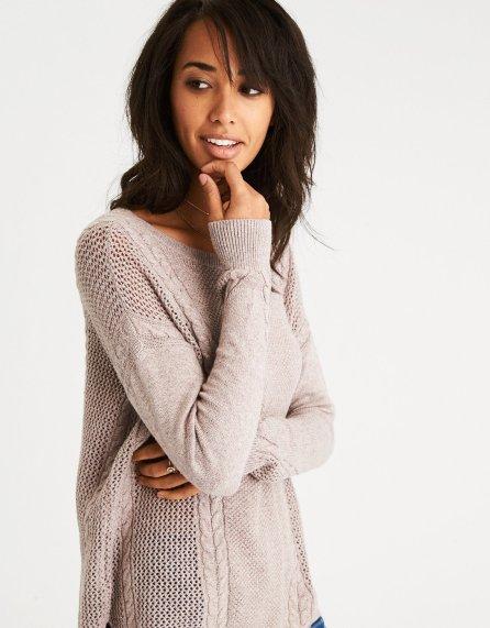 ae sweater tan