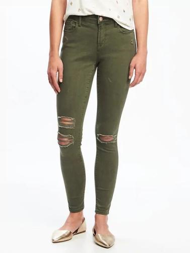 green rockstar jeans ON
