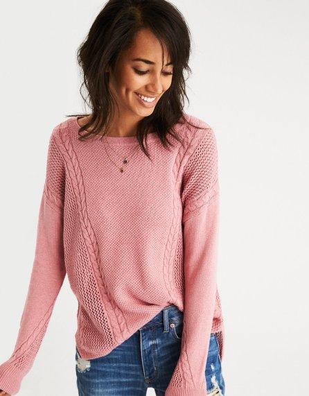 pink AE sweater